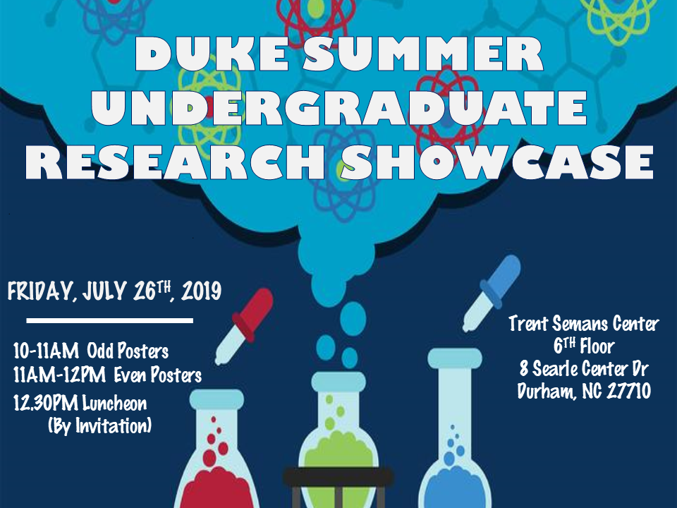 2019 Undergraduate Summer Research Showcase