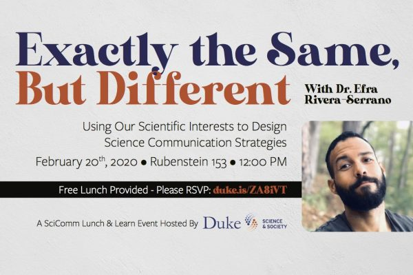 Exactly the Same, but different (February 20 SciComm Lunch and Learn) 12 pm at Rubenstein 153