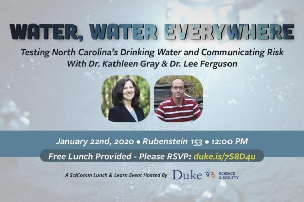 Water, Water Everywhere (January 22 SciComm Lunch and Learn) 12:00 PM in Rubenstein 153
