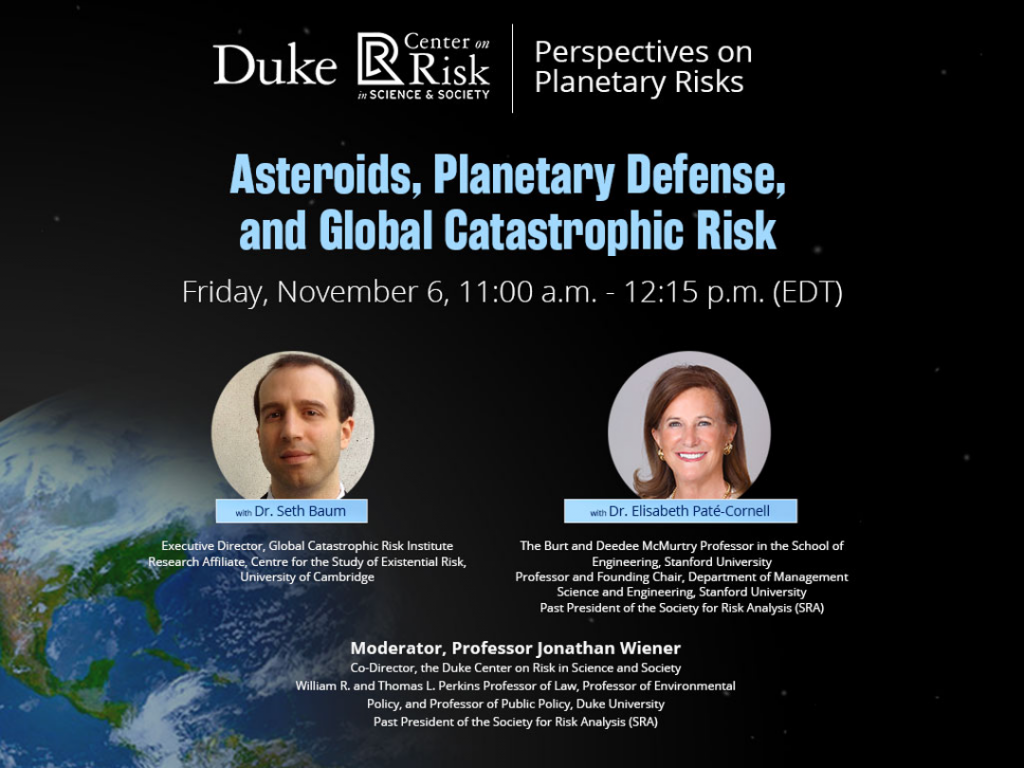 asteroids planetary defense and global catastrophic rick friday November 2 eleven am