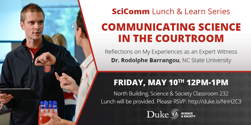 SciComm Lunch and Learn Dr. Rodolphe Barrangou