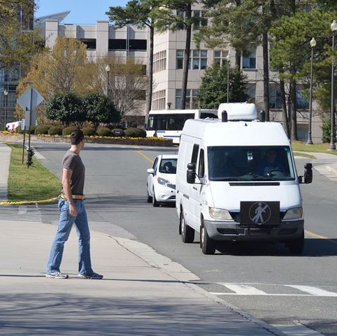 An experiment on how autonomous vehicle may interact with pedestrians
