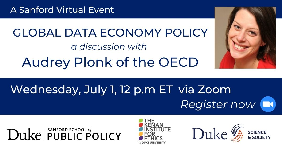 Wednesday, July 1, 12 PM: A conversation with Audrey Plonk of the OECD