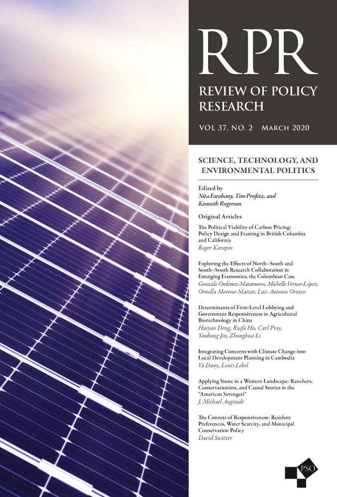 Review of Policy Research Cover - March 2020