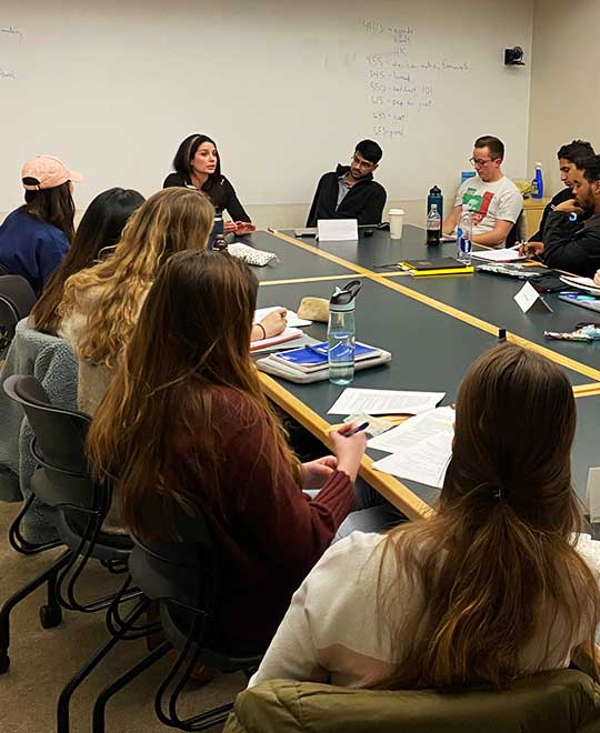 Tech Ethics Masters students in tech policy class